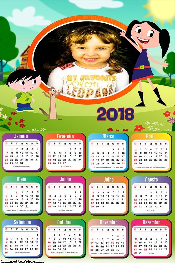 Calendário 2018 da Luna