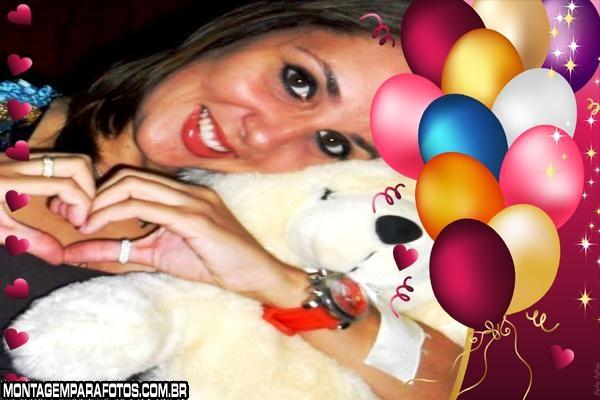Corações e Balões Aniversário
