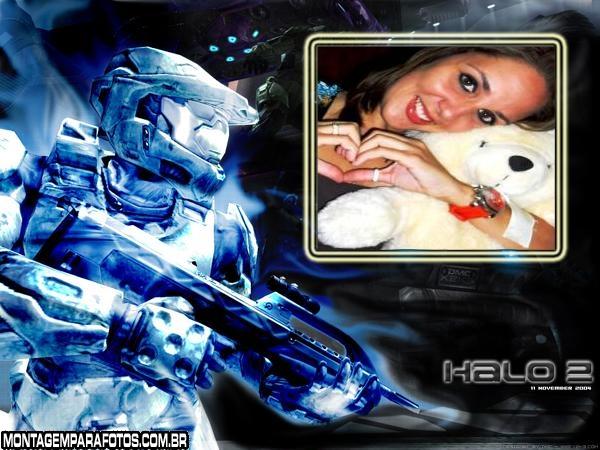 Moldura Halo 3 Azul Gelo