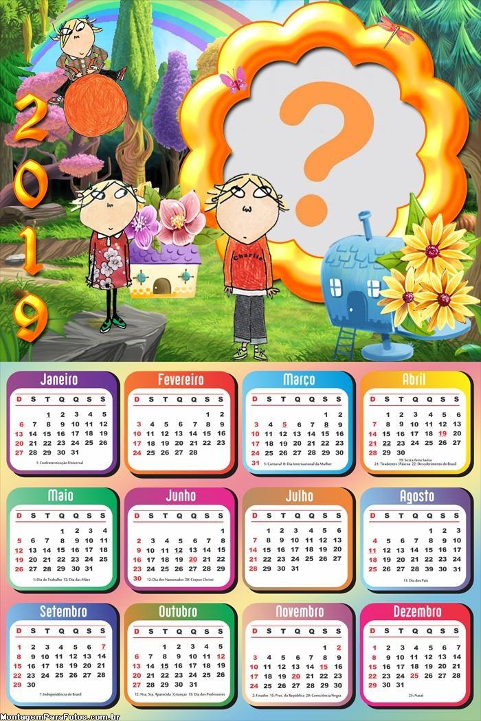 Calendário 2019 Charlie e Lola