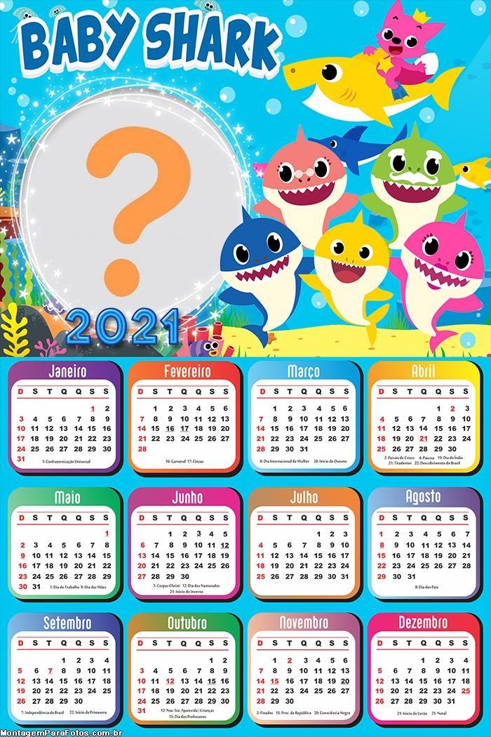 Calendário 2021 Baby Shark