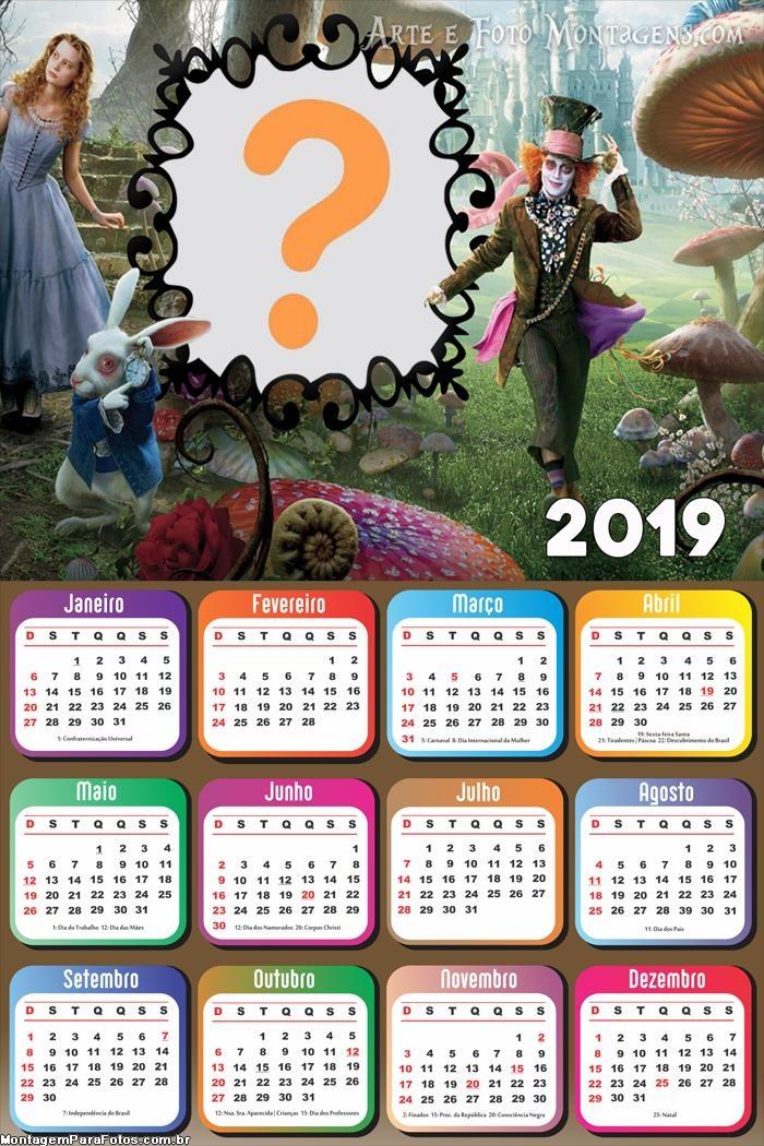 Calendário 2019 Alice Filme