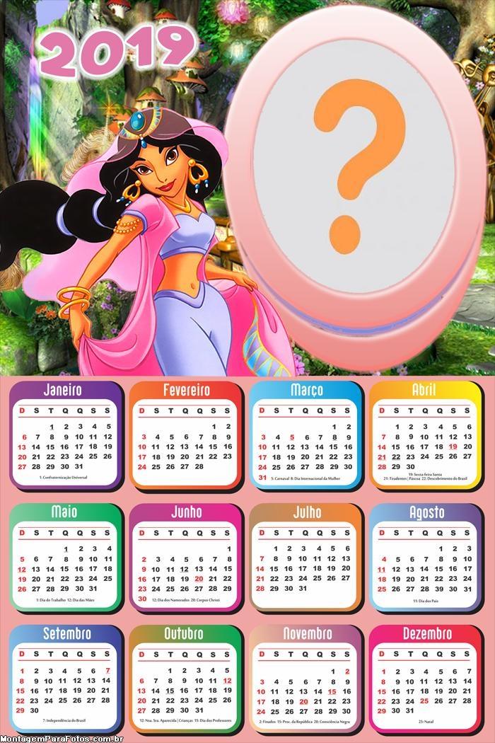 Calendário 2019 Jasmine