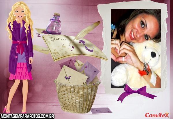 Moldura Diário da Barbie