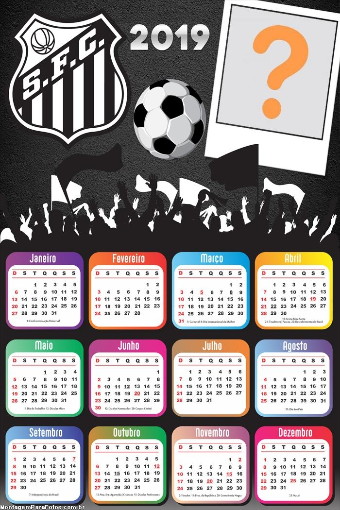 Calendário 2019 do Santos Futebol