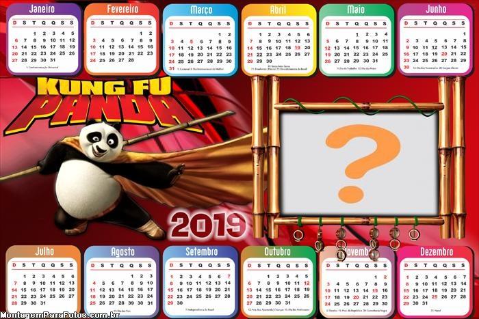 Calendário 2019 Horizontal Kung Fu Panda