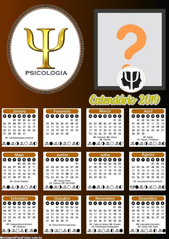 Calendário Psicologia 2019