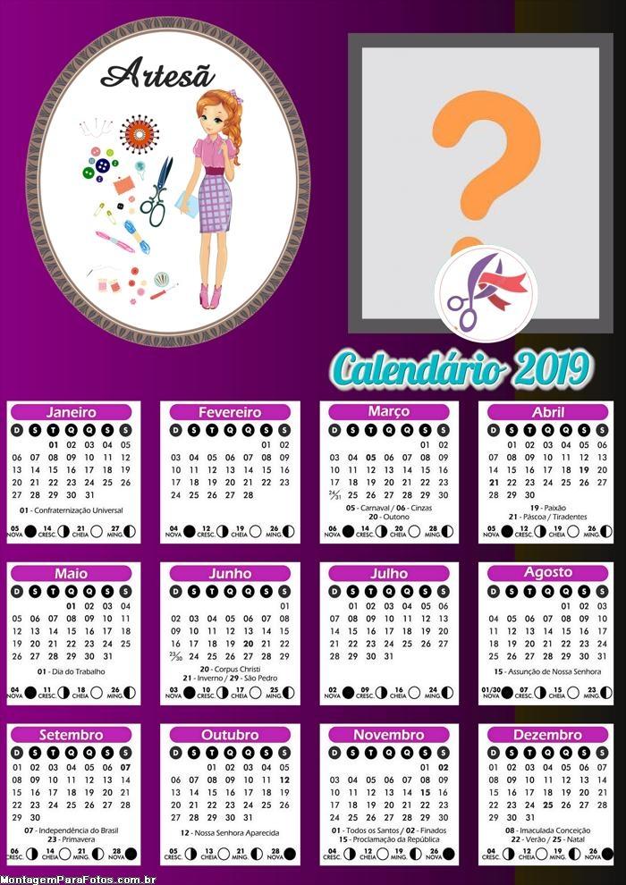 Calendário Artesã 2019