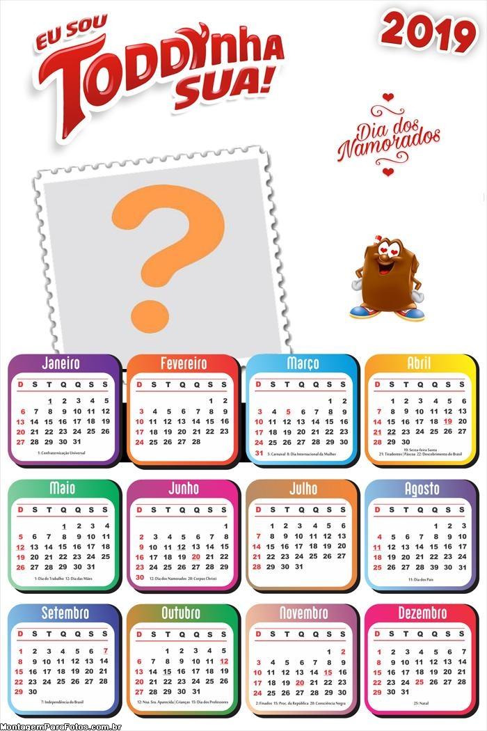 Calendário 2019 Toddynha Sua Dia dos Namorados