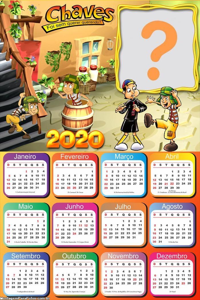 Calendário 2020 Chaves Desenho