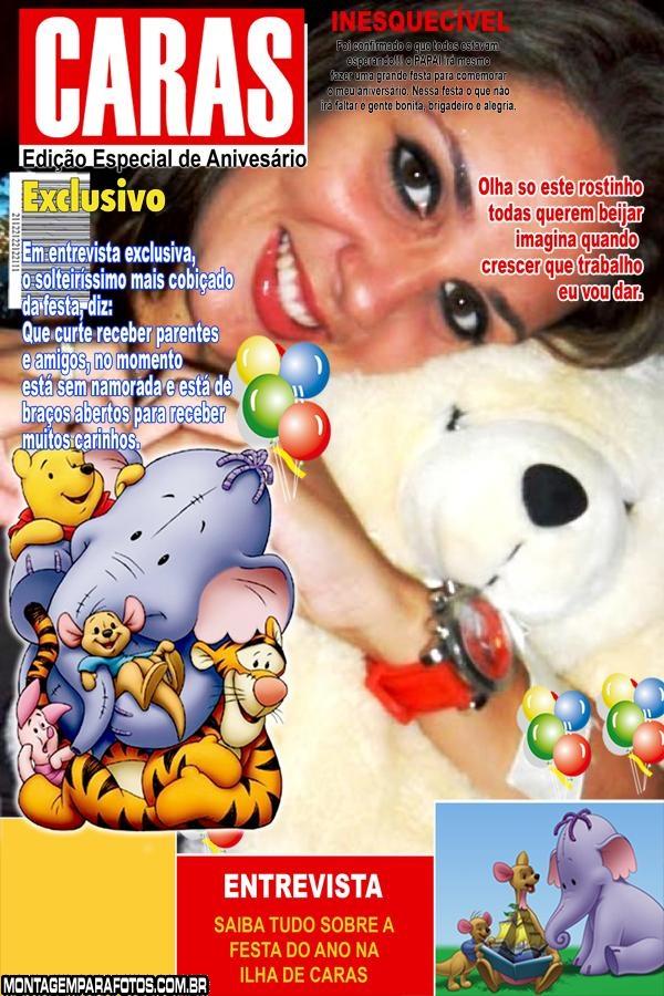 Convite Pooh e Amigos