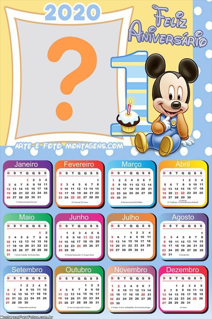 Calendário 2020 Feliz Aniversário Um Ano