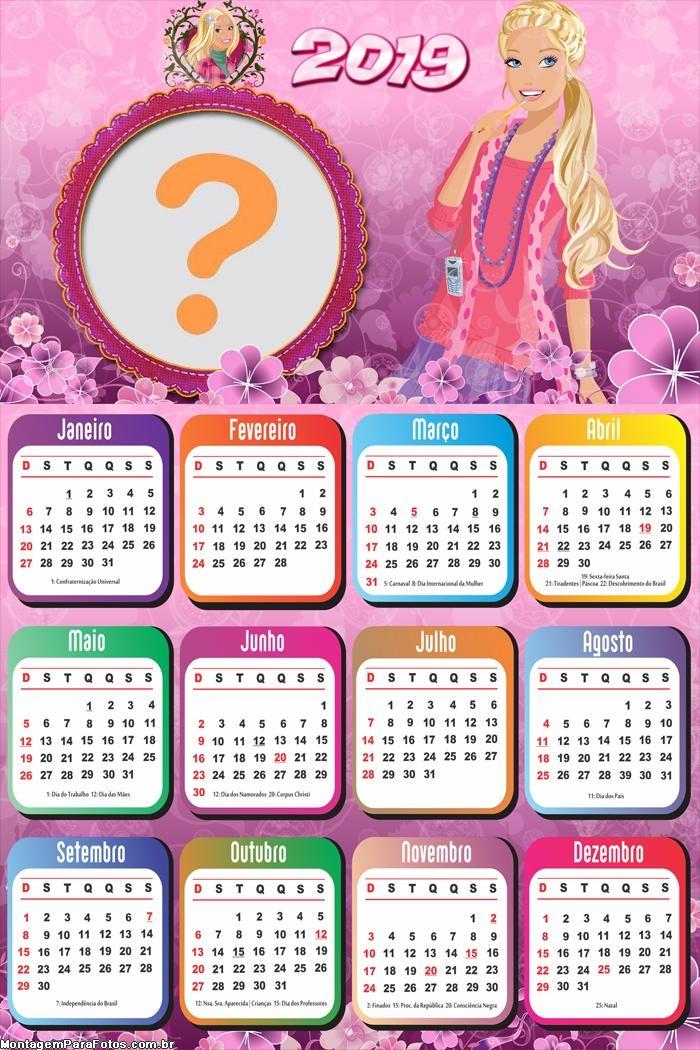 Calendário 2019 Barbie Girl