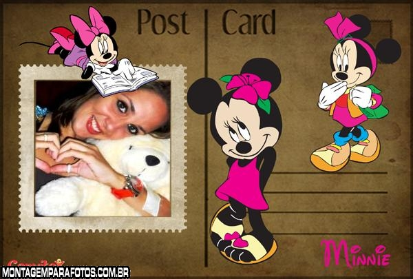 Moldura Post Card Minnie