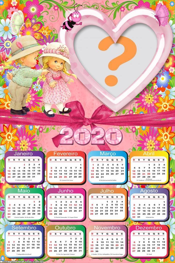 Calendário 2020 Infantil para Crianças