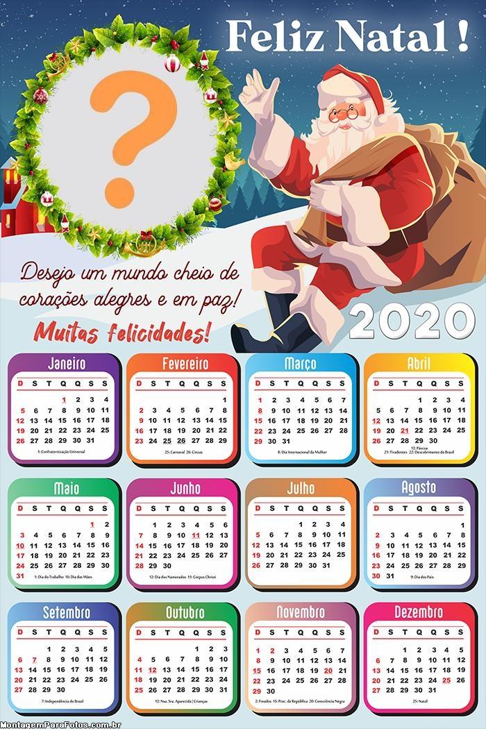 Calendário 2020 Desejo um Mundo cheio de corações