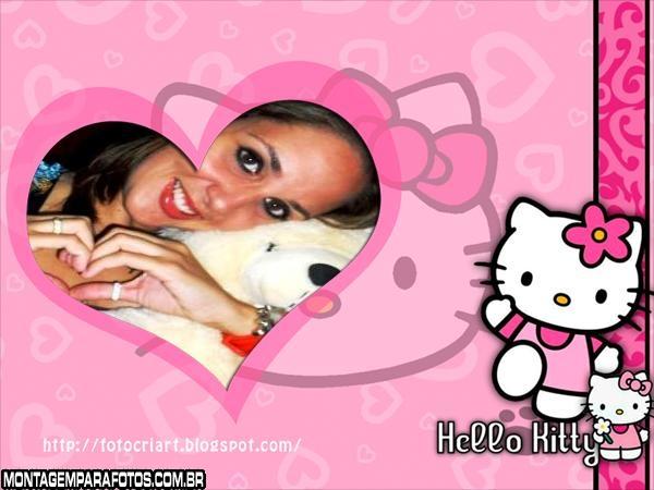 Moldura Amo Hello Kitty