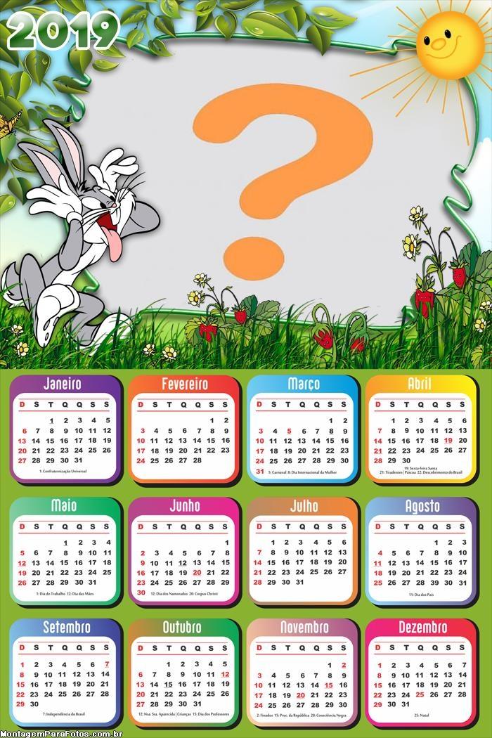 Calendário 2019 Pernalonga