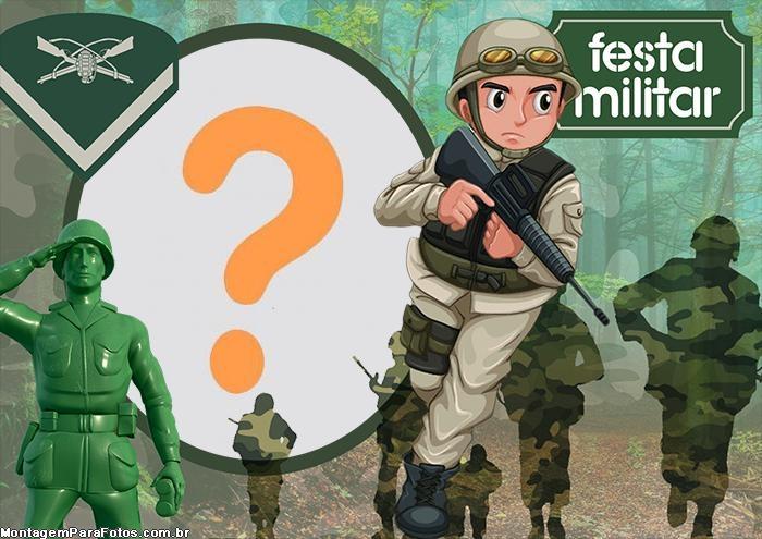 Montagem pra Fotos Tema Militar