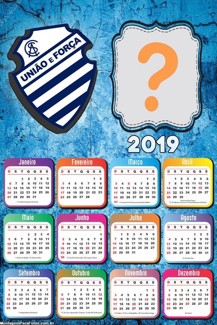 Calendário 2019 Alagoas União e Força