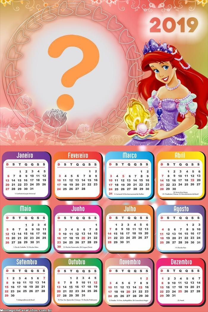 Calendário 2019 Princesa do Mar