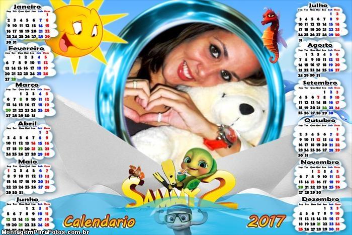 Calendário 2017 Sammy 2