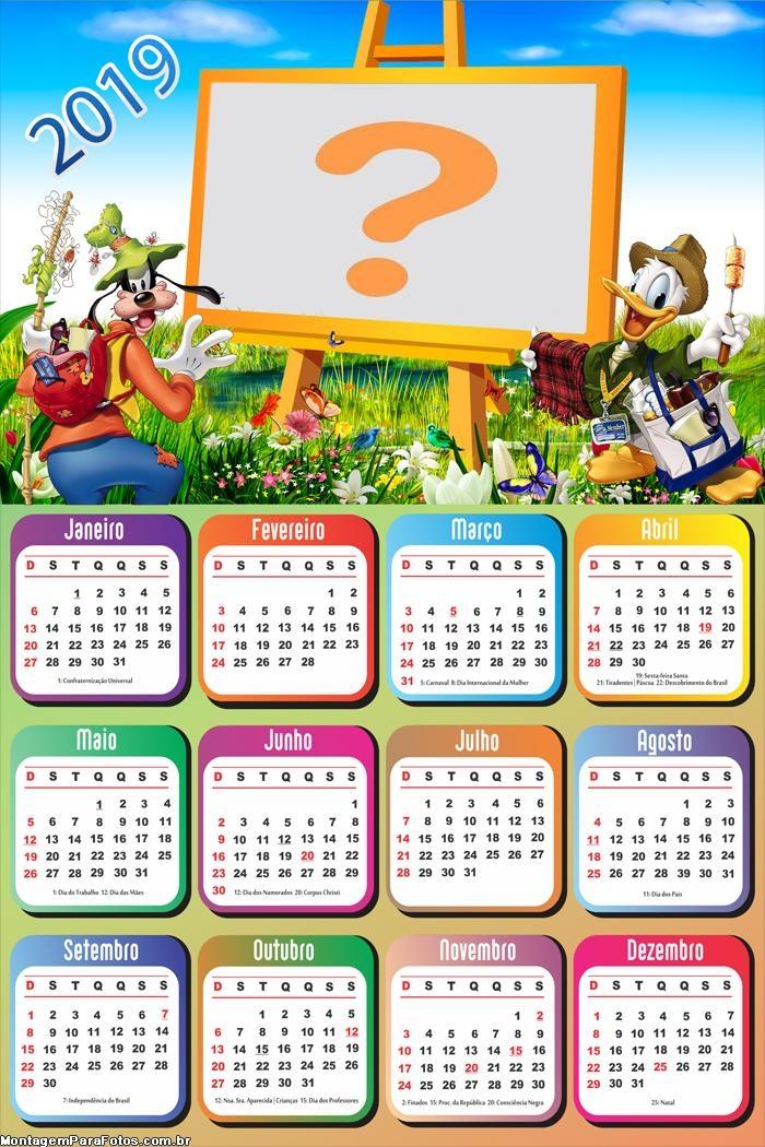 Calendário 2019 Pateta e Pato Donald