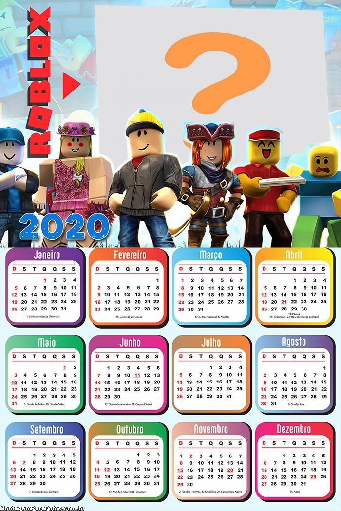 Calendário 2020 Roblox