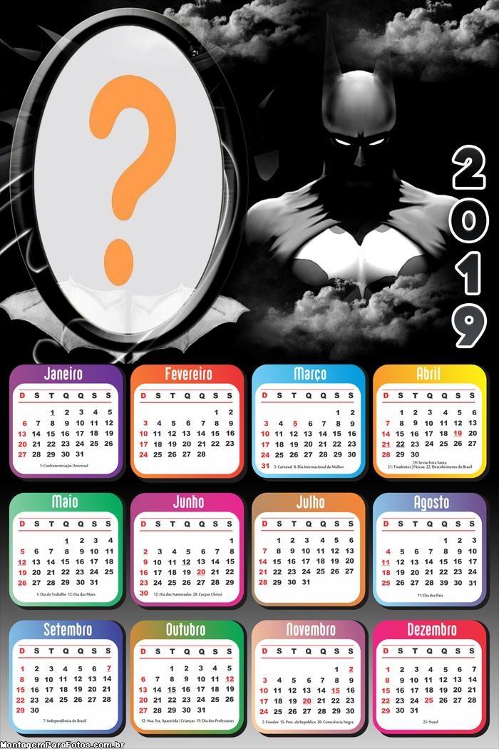 Calendário 2019 Batman Cavaleira das Trevas