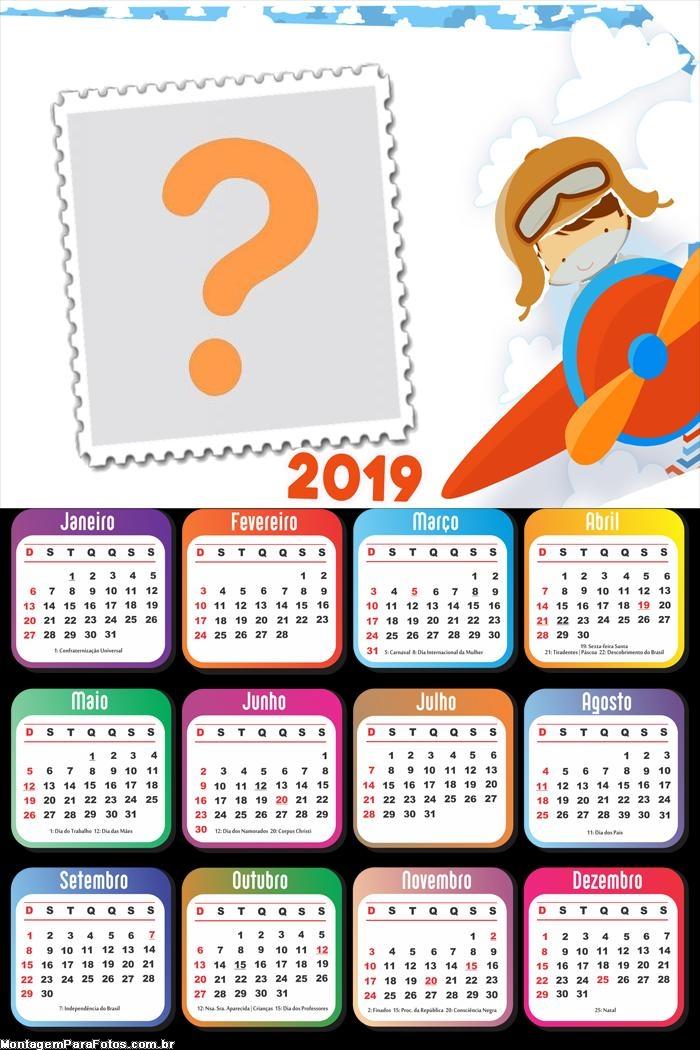Calendário 2019 Menino Aviador