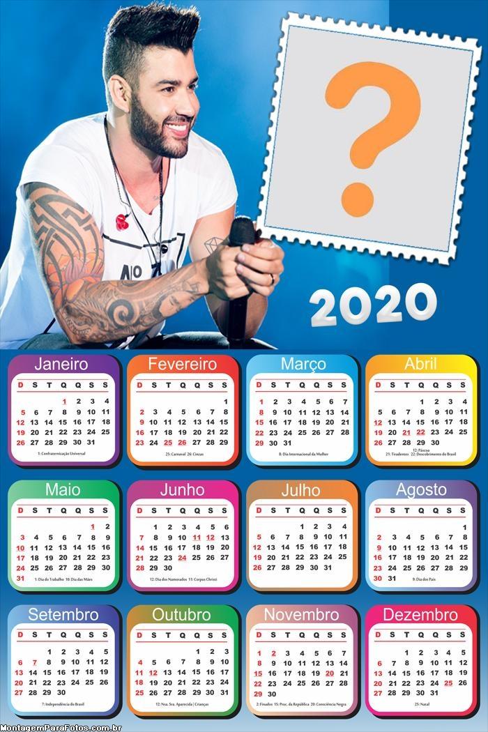 Calendário 2020 Gusttavo Lima Moldura