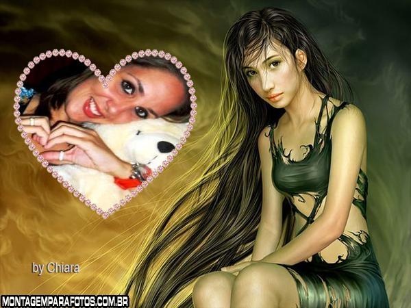 Moldura  Garota com Cabelão