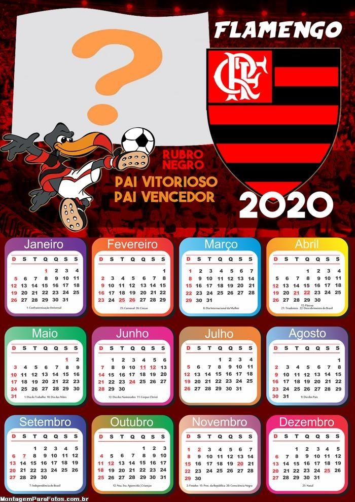 Calendário 2020 do Flamengo Foto Montagem