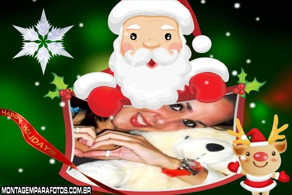 Desenho do Papai Noel Moldura