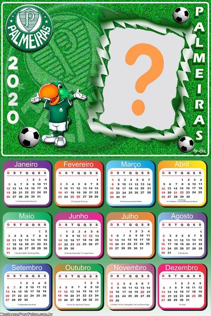 Calendário 2020 Mascote do Palmeiras