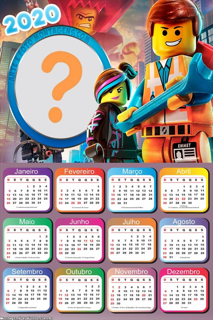 Calendário 2020 LegoMovie Online