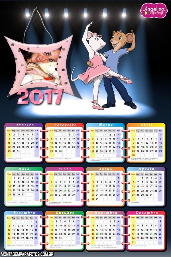 Calendário 2017 Angelina