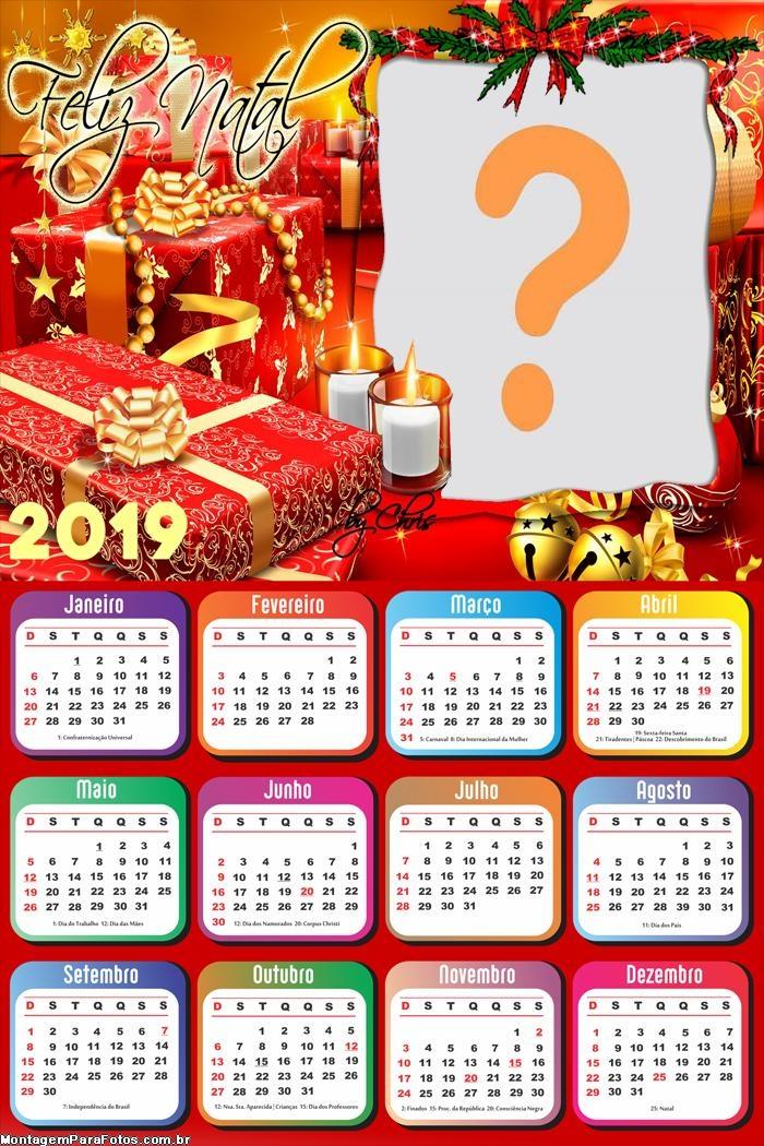 Calendário 2019 Natalino
