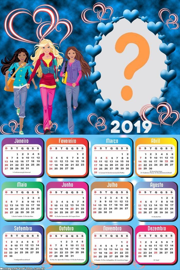 Calendário 2019 Barbie Pop Star
