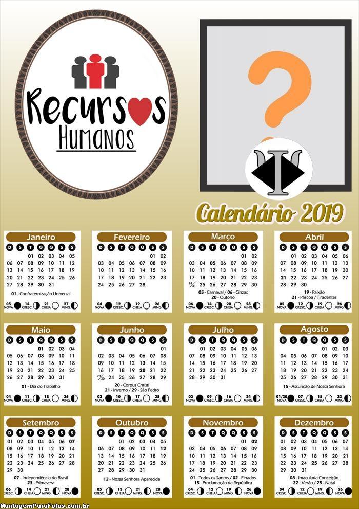 Calendário Recursos Humanos 2019