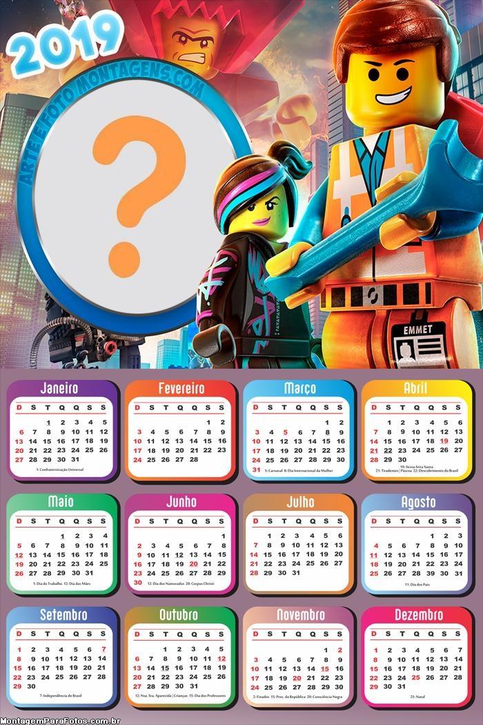 Calendário 2019 LegoMovie