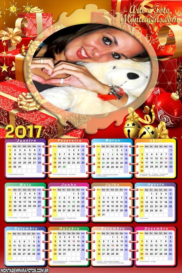 Calendário 2017 Natal Brasil