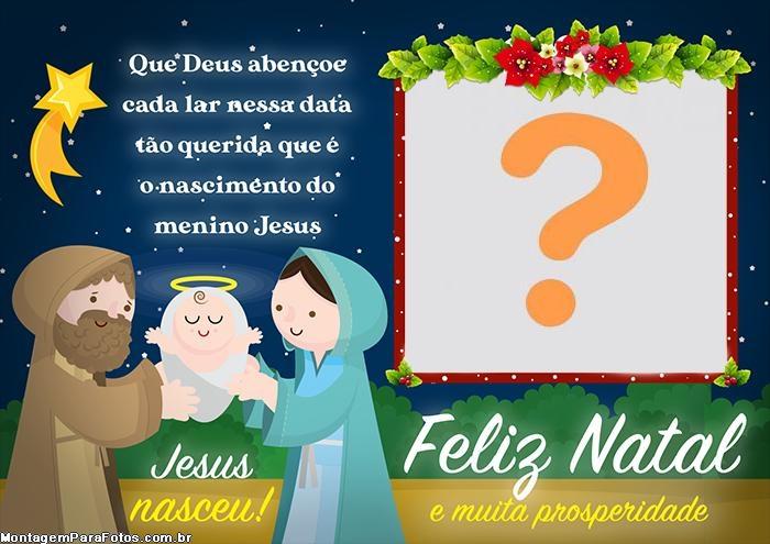 Jesus Nasceu Moldura Feliz Natal