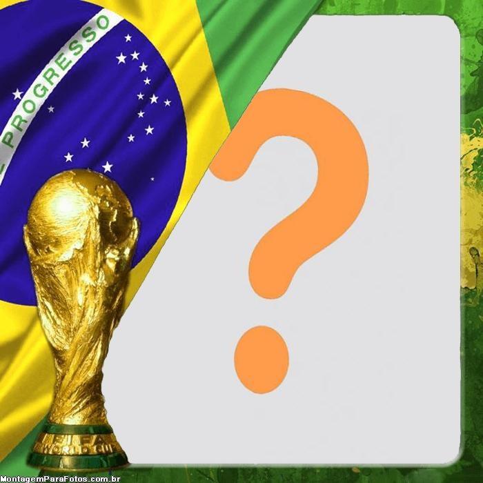 A Taça é Nossa Brasil Foto Moldura