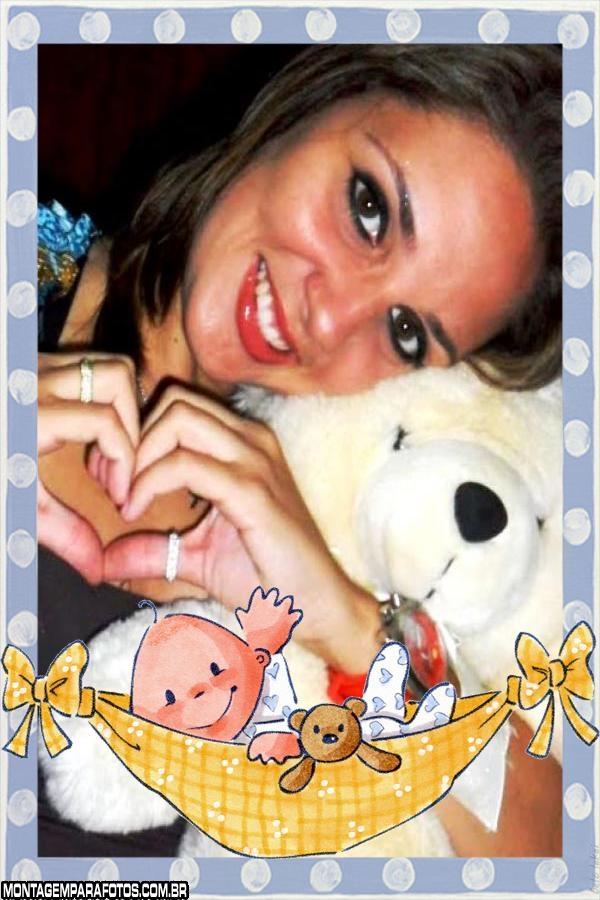 Moldura Bebê na Rede Balanço