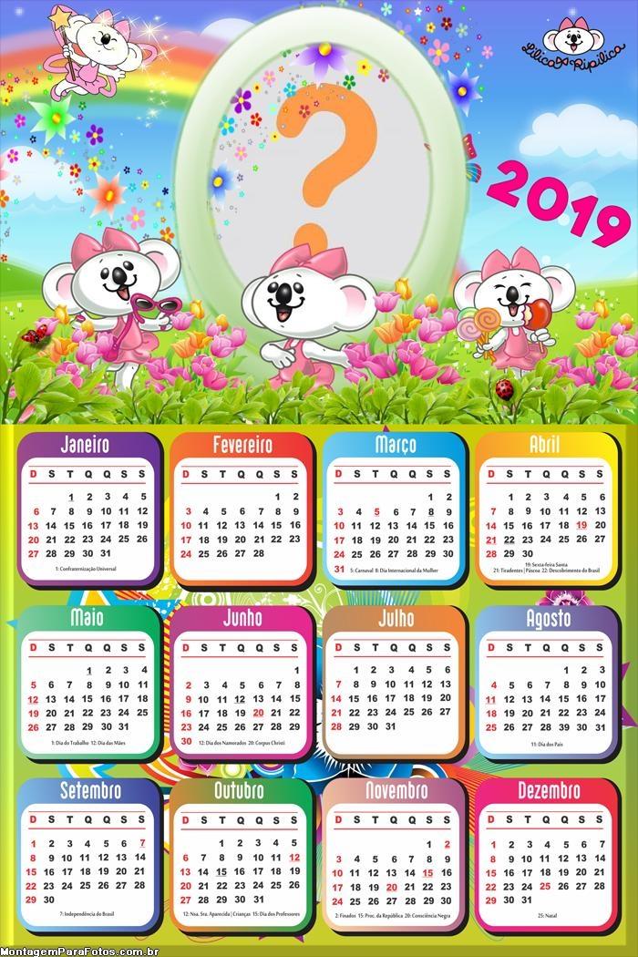 Calendário 2019 Jardim Lilica Ripilica
