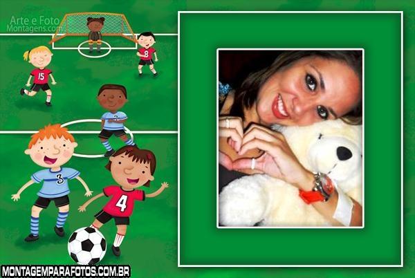 Moldura Futebol Infantil