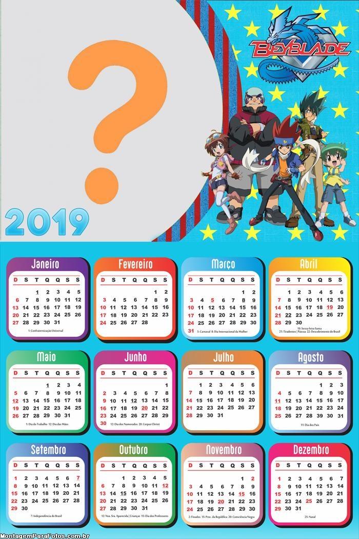 Calendário 2019 Beyblade