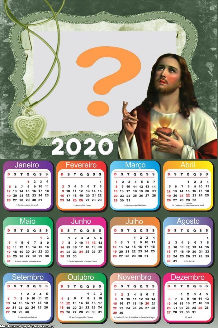 Calendário 2020 Jesus Montagem de Fotos Online