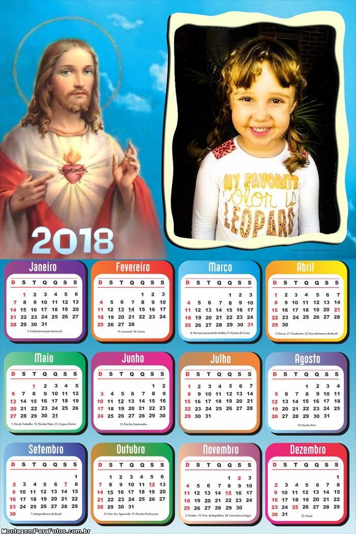 Calendário 2018 Jesus Cristo